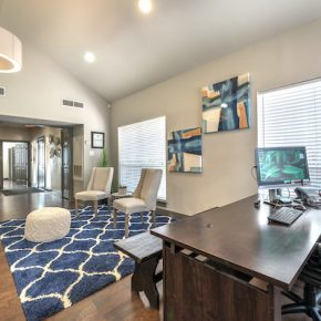 Leasing center at Lincoln Monarch Medical Center Apartments in Houston